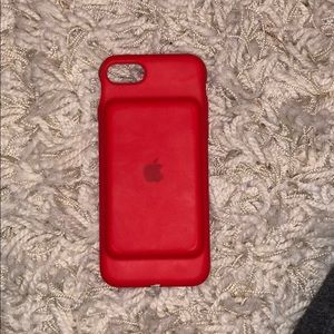 iPhone 8 battery case red